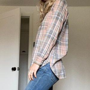 Madewell plaid flannel XS